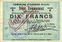 Billets Oignies (62). Commune. Billet. 10 francs 30.8.1914, série E, mention annulé à l'encre rouge...