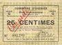 Billets Oignies (62). Commune. Billet. 25 centimes 30.8.1914, série G