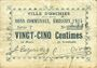 Billets Orchies (02). Ville. Billet. 25 centimes émission 1915, série T