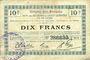 Billets Origny-Ste-Benoite (02). Commune. Billet. S.Q.G., 10 francs 27.10.1917