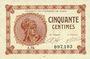 Billets Paris (75). Chambre de Commerce. Billet. 50 centimes 10.3.1920, série A.94