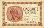 Billets Paris (75). Chambre de Commerce. Billet. 50 centimes 10.3.1920, série D.15