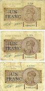 Billets Paris (75). Chambre de Commerce. Billets. 1 franc 10.3.1920 (3ex), séries F.21, H.3, G.100