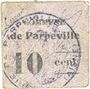 Billets Parpeville (02). Commune. Billet. 10 centimes