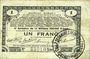 Billets Pas de Calais, Somme et Nord, Groupement de 70 communes. Billet. 1 franc 23.4.1915 série 2A
