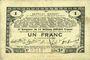 Billets Pas de Calais, Somme et Nord, Groupement de 70 communes. Billet. 1 franc 23.4.1915 série 2H