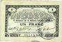 Billets Pas de Calais, Somme et Nord, Groupement de 70 communes. Billet. 1 franc 23.4.1915 série 2L