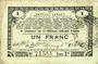 Billets Pas de Calais, Somme et Nord, Groupement de 70 communes. Billet. 1 franc 23.4.1915 série 2R