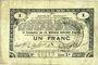 Billets Pas de Calais, Somme et Nord, Groupement de 70 communes. Billet. 1 franc 23.4.1915 série 2S