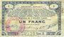 Billets Pas de Calais, Somme et Nord, Groupement de 70 communes. Billet. 1 franc  23.4.1915 série 3