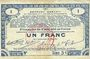 Billets Pas de Calais, Somme et Nord, Groupement de 70 communes. Billet. 1 franc 23.4.1915 série 3C