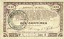 Billets Pas de Calais, Somme et Nord, Groupement de 70 communes. Billet. 10 centimes 23.4.1915 série 9
