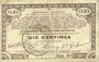 Billets Pas de Calais, Somme et Nord, Groupement de 70 communes. Billet. 10 centimes 23.4.1915 série 9D