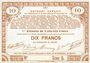 Billets Pas de Calais, Somme et Nord, Groupement de 70 communes. Billet. 10 francs  23.4.1915 série 5