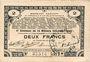 Billets Pas de Calais, Somme et Nord, Groupement de 70 communes. Billet. 2 francs 23.4.1915 série 3A