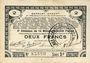 Billets Pas de Calais, Somme et Nord, Groupement de 70 communes. Billet. 2 francs 23.4.1915 série 3C