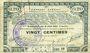 Billets Pas de Calais, Somme et Nord, Groupement de 70 communes. Billet. 20 centimes 23.4.1915 série 1B