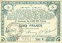 Billets Pas de Calais, Somme et Nord, Groupement de 70 communes. Billet. 5 francs 23.4.1915 série 4