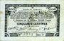 Billets Pas de Calais, Somme et Nord, Groupement de 70 communes. Billet. 50 centimes 23.4.1915 série 1J