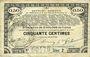 Billets Pas de Calais, Somme et Nord, Groupement de 70 communes. Billet. 50 centimes 23.4.1915 série 2