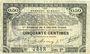 Billets Pas de Calais, Somme et Nord, Groupement de 70 communes. Billet. 50 centimes 23.4.1915 série 2A