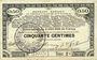 Billets Pas de Calais, Somme et Nord, Groupement de 70 communes. Billet. 50 centimes 23.4.1915 série 2C
