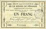 Billets Péronne (80). Bon de guerre de la Région de Péronne. Billet. 1 franc 2.9.1915