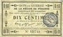 Billets Péronne (80). Bon de guerre de la Région de Péronne. Billet. 10 centimes 2.9.1915