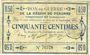 Billets Péronne (80). Bon de guerre de la Région de Péronne. Billet. 50 centimes 2.9.1915