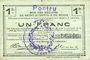 Billets Pontru (02). Billet. S.Q.G., 1 franc 8.8.1916