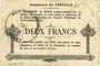 Billets Proville (59). Commune. Billet. 2 francs 14.11.1915, 1ère série