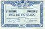 Billets Quimper & Brest (29). Chambres de Commerce. Billet. 1 franc 1921, série F