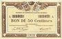 Billets Quimper & Brest (29). Chambres de Commerce. Billet. 50 centimes 1915 série A