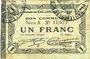 Billets Raillencourt-Ste-Olle (59). Commune. Billet. 1 franc 16.12.1915, série A