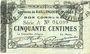Billets Raillencourt-Ste-Olle (59). Commune. Billet. 50 centimes 16.12.1915, série A