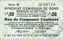 Billets Rethel (08). Syndicat d'Emission. Billet. 50 centimes 21.4.1917, 2e émission, série G