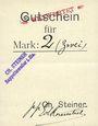 Billets Ribeauvillé (Rappoltsweiler) (68). Ch. Steiner. Billet, carton. G de Gutschein enroulé. 1 mark