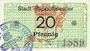 Billets Ribeauvillé (Rappoltsweiler) (68). Ville. Billet. 20 pfennig (1917)