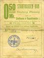 Billets Ribeauvillé (Rappoltsweiler) (68). Ville. Billet, carton. 0,50 mark. Non annulé