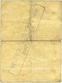 Billets Ribeauvillé (Rappoltsweiler) (68). Ville. Billet, carton. 1 mark. Annulation au revers par cachet