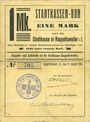 Billets Ribeauvillé (Rappoltsweiler) (68). Ville. Billet, carton. 1 mark. Non annulé