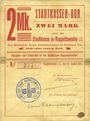 Billets Ribeauvillé (Rappoltsweiler) (68). Ville. Billet, carton. 2 mark. Non annulé