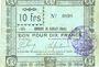 Billets Rieulay (59). Commune. Billet. 10 francs 1914