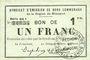 Billets Rimogne (08). Syndicat d'Emission. Billet. 1 franc 19.11.1917, série GG 1