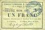 Billets Rimogne (08). Syndicat d'Emission. Billet. 1 franc 30.6.1916, série H 2