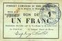 Billets Rimogne (08). Syndicat d'Emission. Billet. 1 franc 30.6.1916, série H 8