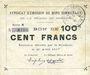 Billets Rimogne (08). Syndicat d'Emission. Billet. 100 francs 26.4.1917, série N