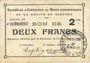 Billets Rimogne (08). Syndicat d'Emission. Billet. 2 francs 19.11.1917, série FF