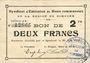 Billets Rimogne (08). Syndicat d'Emission. Billet. 2 francs 30.6.1916, série J 2