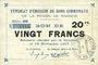 Billets Rimogne (08). Syndicat d'Emission. Billet. 20 francs 19.11.1917, série CC